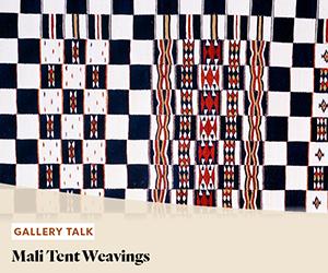 Gallery Talk: Mali Tent Weavings