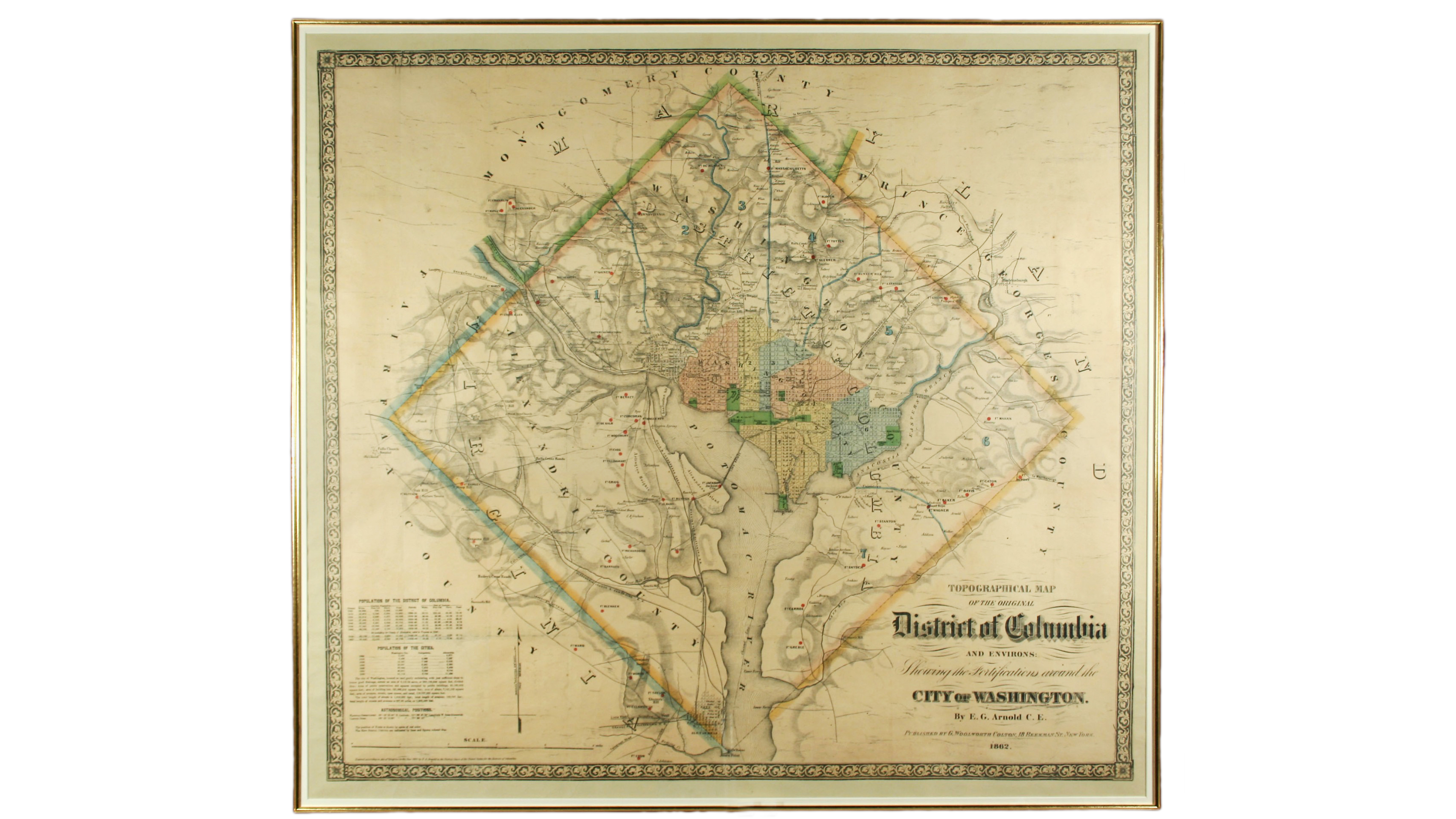 Topographical Map of the Original District of Columbia and Environs ...