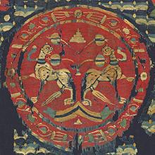 Detail of textile hanging