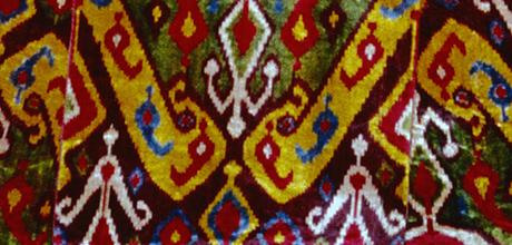 Detail of ikat robe