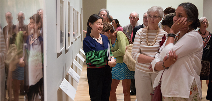Museum members on a curator tour