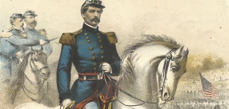Detail of sheet music showing General McClellan