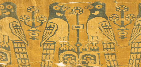 Detail of textile fragment with birds (TM 3.204)