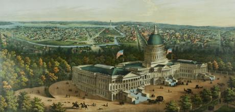Illustration of 19th-century Washington, D.C.