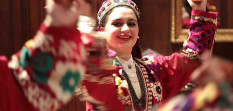Members of the Silk Road Dance Company perform at the museum's Mid-Winter Central Asian Family Festival