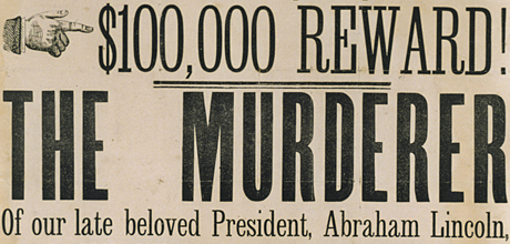 Broadside for reward for Lincoln's murderer