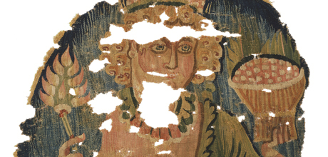 Detail of fragmentary roundel, Egypt, Late Roman Period, 4th century, The Textile Museum 71.10