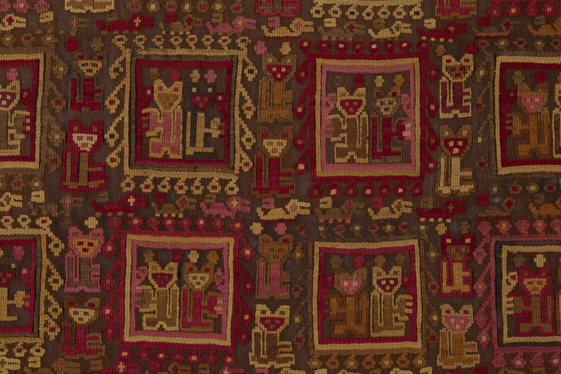 Detail of loincloth end panel, Peru