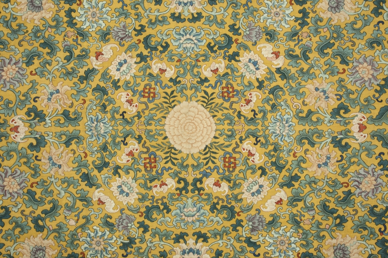 Detail of throne cushion cover, China