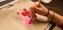 Photo of young person working on an art activity