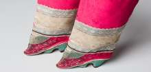 Detail of woman's shoes