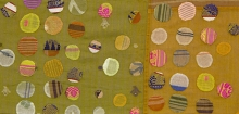Detail of textile designed byChristina Kim