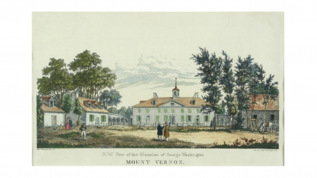 Northwest View of the Mansion of George Washington