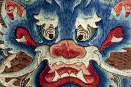 Back detail of dragon robe, China