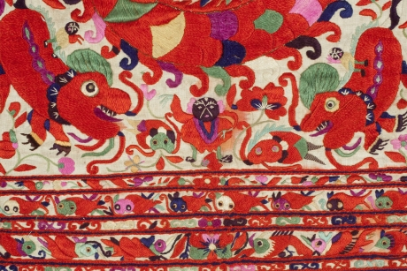 Detail of apron, China