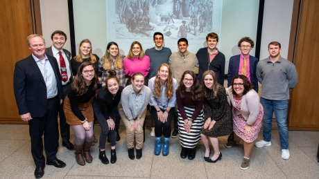 Students of GW professor Denver Brunsman