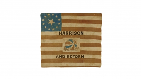 William Henry Harrison and Reform campaign flag