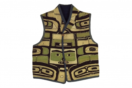 Vest made from a ceremonial mantle, Northwest coast of North America