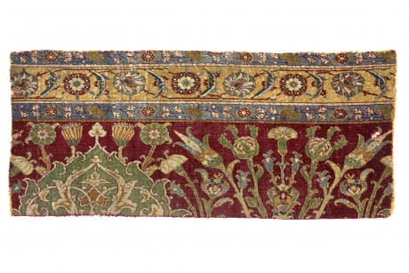 Fragment of a floral court carpet, probably Cairo, Egypt