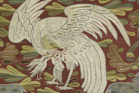 Table cover or wall hanging (detail), Peru