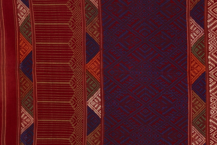 Detail of shoulder cloth, Laos