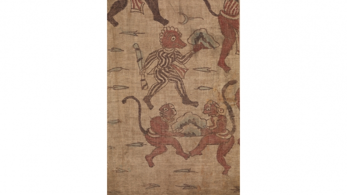 Fragment from a ramayana (ceremonial hanging)