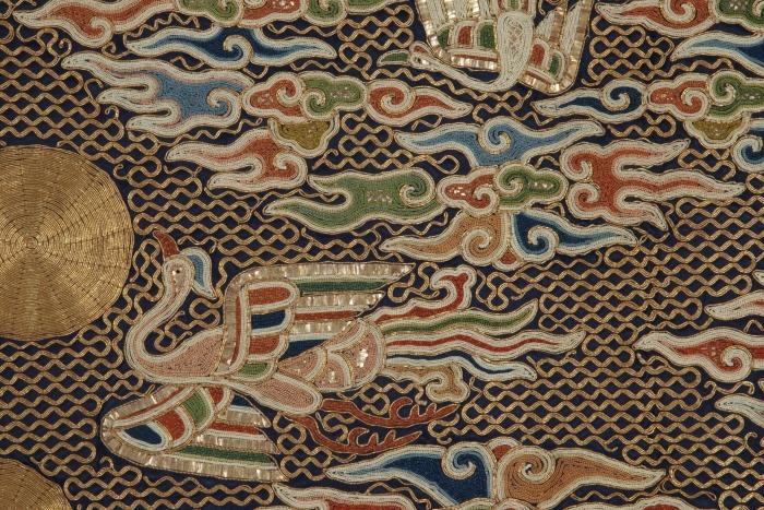 Detail of Daoist priest's robe, China