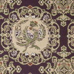 Detail of silk with phoenix and vine scroll roundels