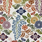 Detail of silk with wisteria pattern