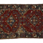 Small 'Kara Memi' carpet with two quatrefoil medallions, probably Karapınar district