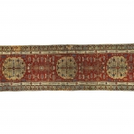 'Kara Memi' long rug with floral design, Central Anatolia