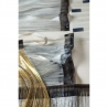 Slit silver-leafed washi paper for use as wefts for weaving