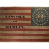 Abraham Lincoln campaign banner