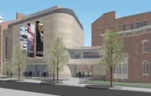 Photo of museum rendering