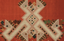 Photo of Carol Cassidy's weaving featuring a double nak