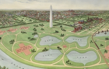 Detail of print showing plans for the National Mall