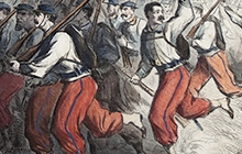 Detail of print from Civil War exhibition