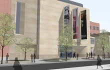 Artist rendering of the museum exterior