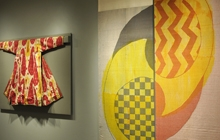 """Two pieces in The Textile Museum's """"Sourcing the Museum"""" exhibition"""