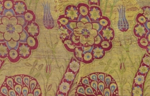 Detail of fragment of yellow-ground kemhal, Istanbul, The Textile Museum 1.47