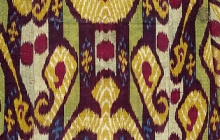 Detail of ikat from the exhibition, The Textile Museum 2005.36.144.