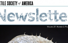 Textile Society of American newsletter cover
