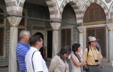 Museum members visit the harem-section of the Topkapi Palace in Istanbul, as part of the 2013 tour.