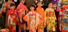 Children participate in a Matsuri Festival at the museum.