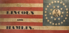 Detail of Abraham Lincoln flag