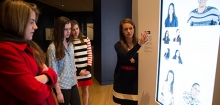Photo of group of students touring the galleries