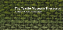 Detail of Textile Museum Thesaurus cover