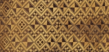 Detail of Noblewoman's ceremonial overskirt, Shoowa people, The Textile Museum 24.4