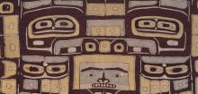 Detail of ceremonial mantle, North America