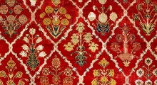 Detail of Mughal Empire carpet, The Textile Museum 1994.12.1